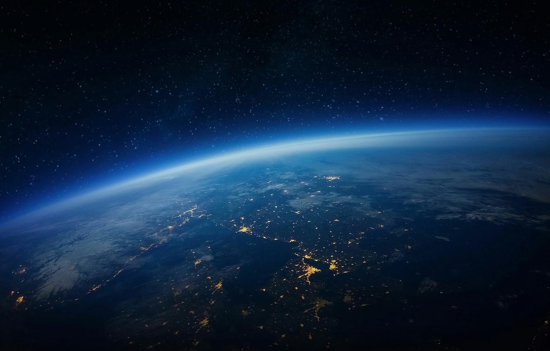 Photo wallpaper world, space, night