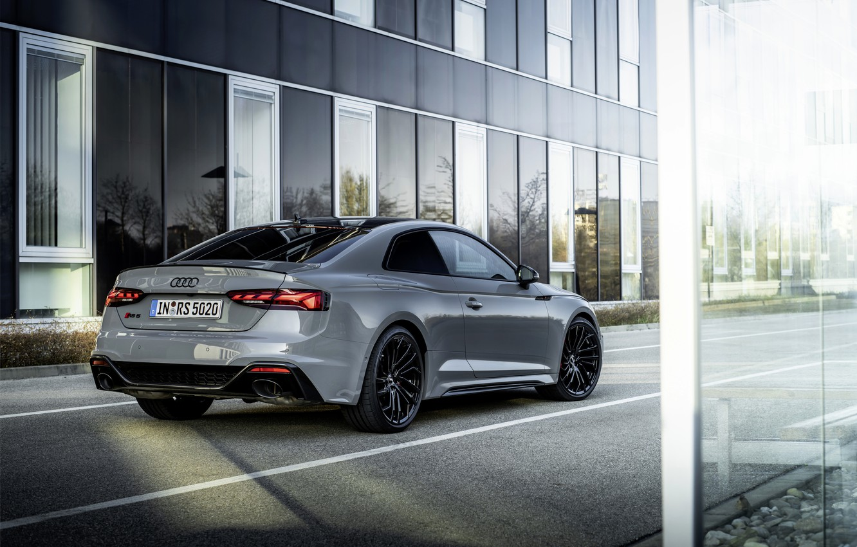 Photo wallpaper asphalt, the city, Audi, coupe, RS 5, 2020, RS5 Coupe