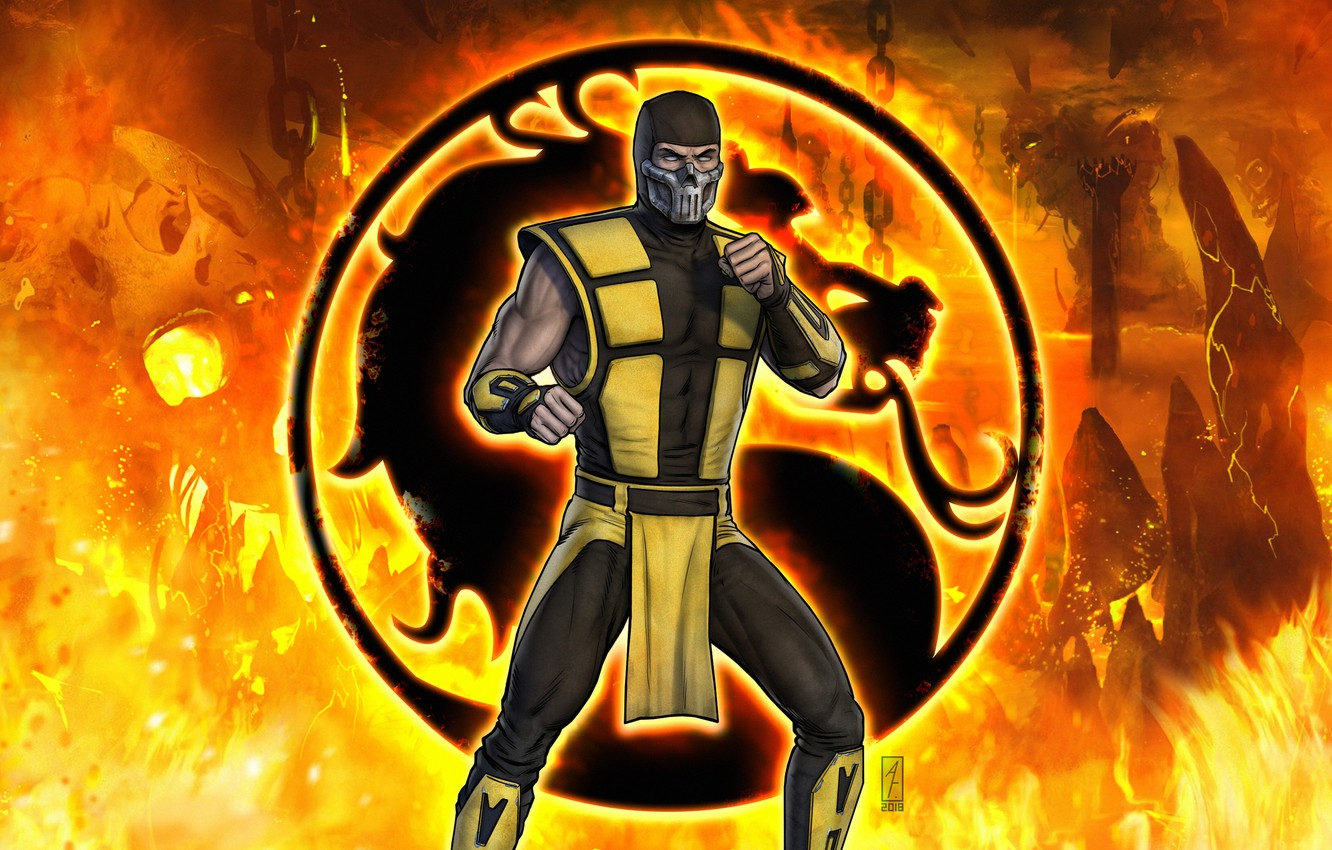 Wallpaper Fantasy Fire Art Flame Logo Ultimate Mortal Kombat