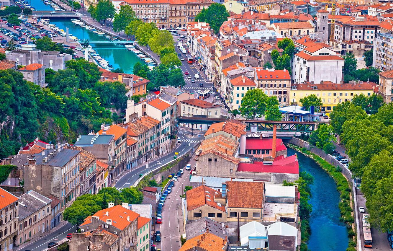 Photo wallpaper home, street, Croatia, Rijeka