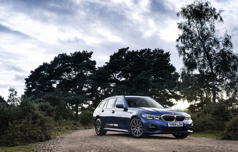 Photo wallpaper trees, BMW, 3-series, universal, 320d, 3P, 2020, UK version, G21, xDrive Touring