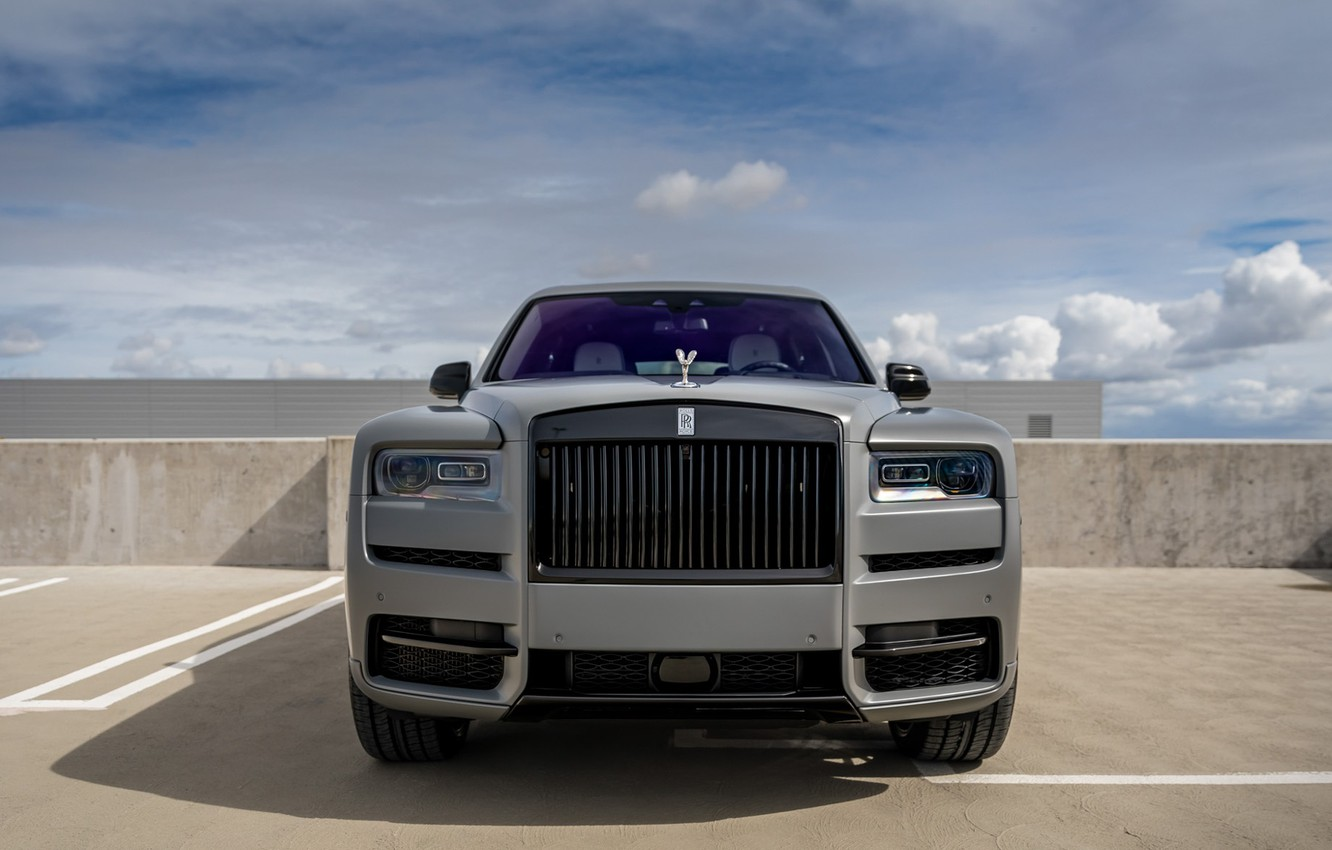 Wallpaper Rolls Royce Front Face Graphite Cullinan