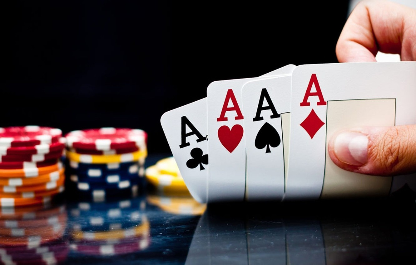 Wallpaper card, casino, 4 aces images for desktop, section игры - download