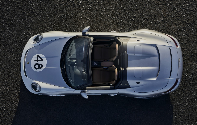 Photo wallpaper 911, Porsche, top, Speedster, 991, 2019, gray-silver, 991.2