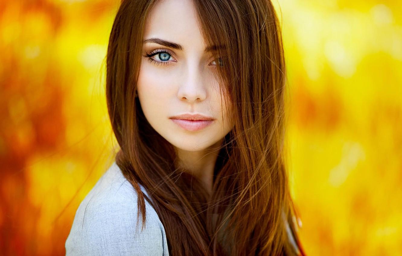 Photo wallpaper look, background, model, portrait, makeup, hairstyle, brown hair, beauty, bokeh, Natalya, Ann Nevreva