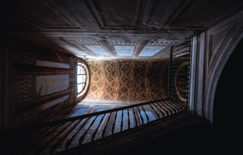 Photo wallpaper house, background, ladder