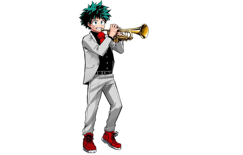 Photo wallpaper Trumpet, Boku no Hero Academy, Izuku Midoriya, Official Art, Kohei Horikoshi
