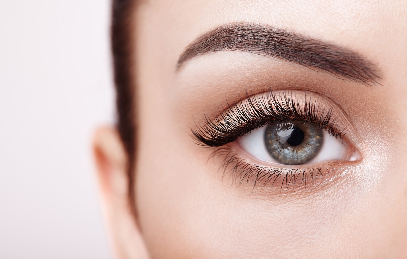 Photo wallpaper woman, eyes, eyelashes
