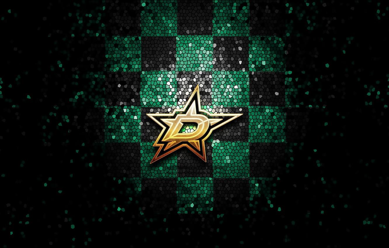 Wallpaper Wallpaper Sport Logo Nhl Hockey Glitter Checkered Dallas Stars Images For Desktop Section Sport Download