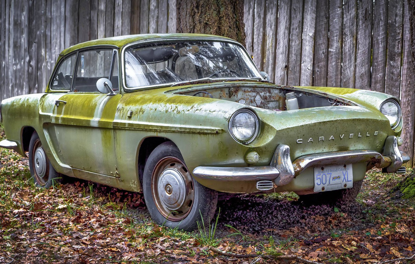 Photo wallpaper old, rusty, car, Renault Caravelle