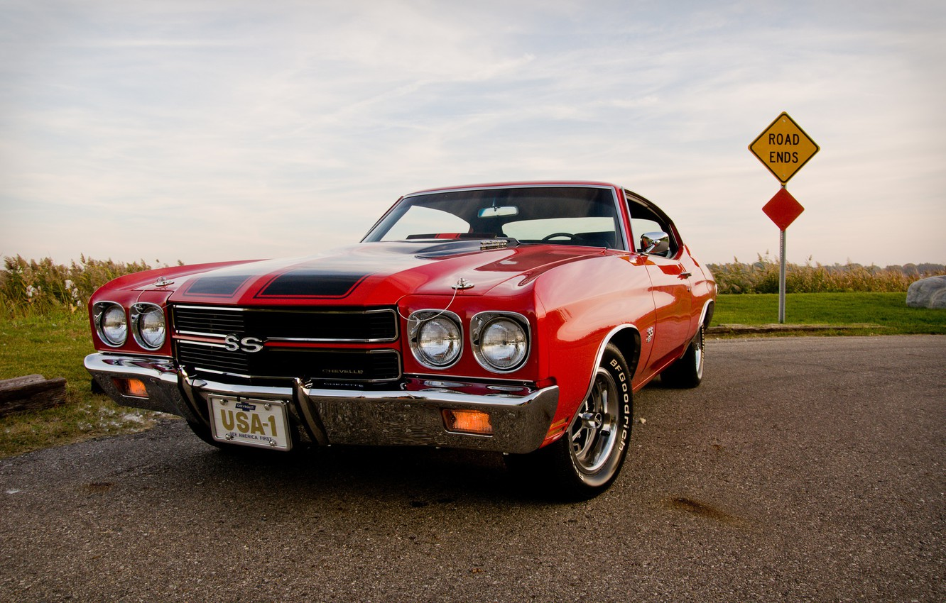 Photo wallpaper 1970, Chevrolet Chevelle, Muscle Car, 1970 Chevrolet Chevelle SS