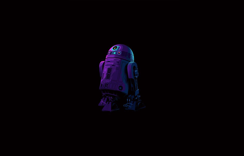 Photo wallpaper Star Wars, fantasy, robot, minimalism, science fiction, sci-fi, movie, artist, digital art, film, artwork, black …