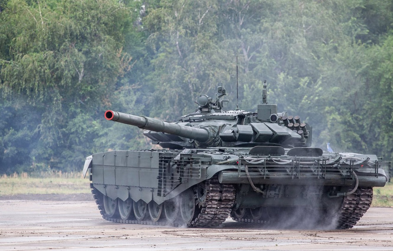 Photo wallpaper tank, armor, T-72B3, armored vehicles of Russia