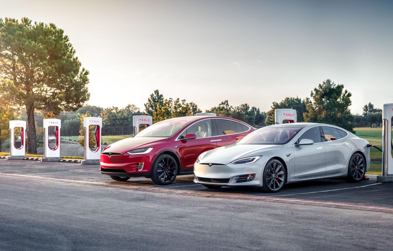 Photo wallpaper USA, USA, Tesla, Tesla, Supercharger, Tesla Model S, Tesla Model X