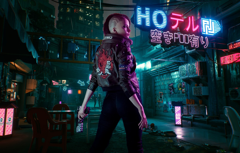 Photo wallpaper future, rpg, video game, night city, CD Projekt RED, Cyberpunk 2077
