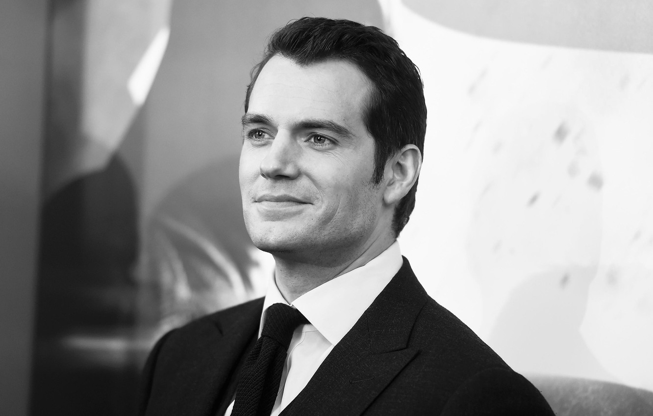 Photo wallpaper look, pose, costume, actor, black and white, Henry Cavill, Henry Cavill