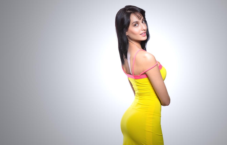 Photo wallpaper girl, hot, sexy, beautiful, figure, model, pose, indian, actress, celebrity, bollywood, Nora Fatehi