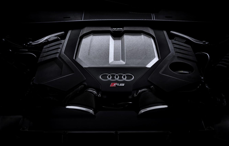 Photo wallpaper Audi, engine, universal, TFSI, RS 6, 2020, 2019, 600 HP, V8 Twin-Turbo, RS6 Avant, 4.0 …