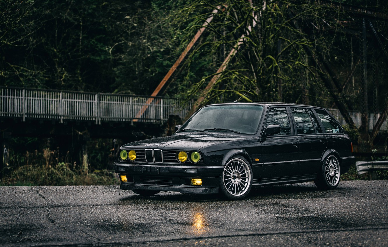 Photo wallpaper BMW, E30, TOURING