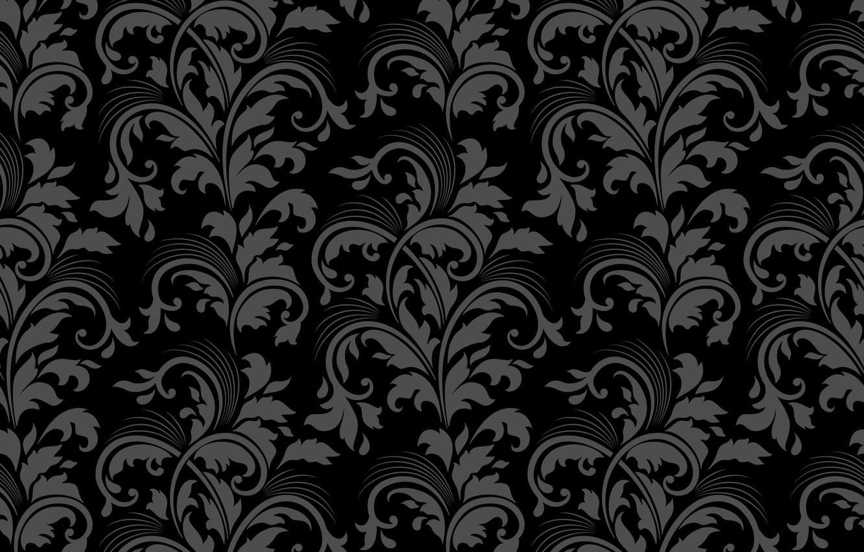 Photo wallpaper grey, background, Wallpaper, pattern, black, texture, ornament, vintage