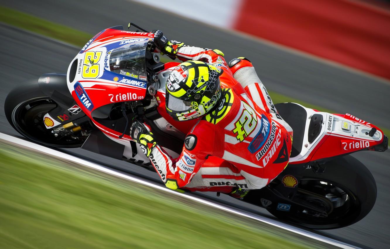 Photo wallpaper turn, bike, racer, racing