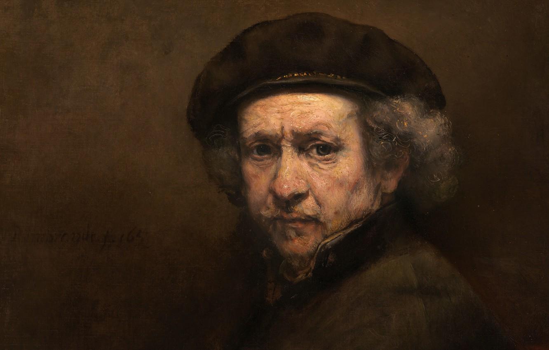 Photo wallpaper Rembrandt, Rembrandt Harmenszoon van Rijn, Rembrandt Harmenszoon van Rijn, Rembrandt, Self portrait, Dutch painter, Dutch …