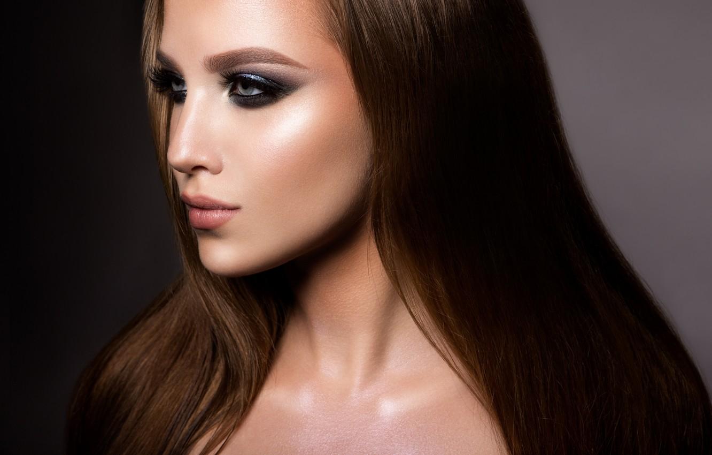 Photo wallpaper model, lips, make up