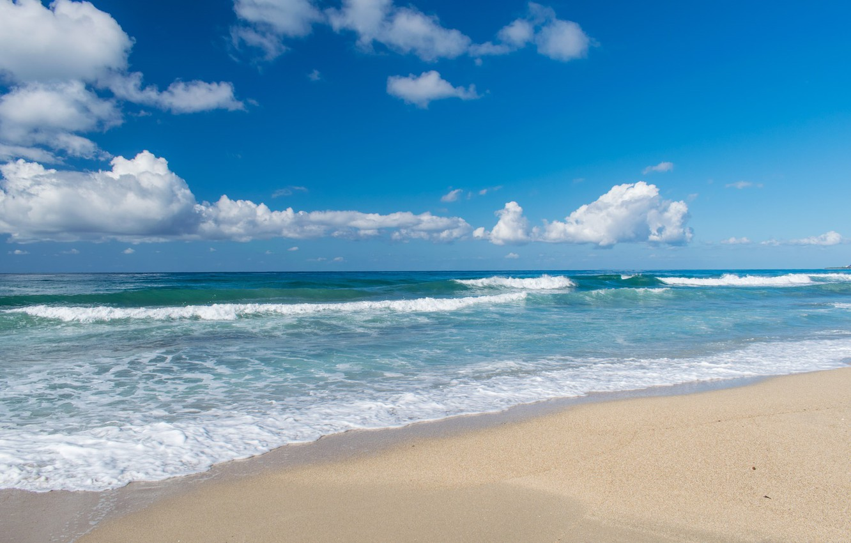 Photo wallpaper sea, sand., Vacation