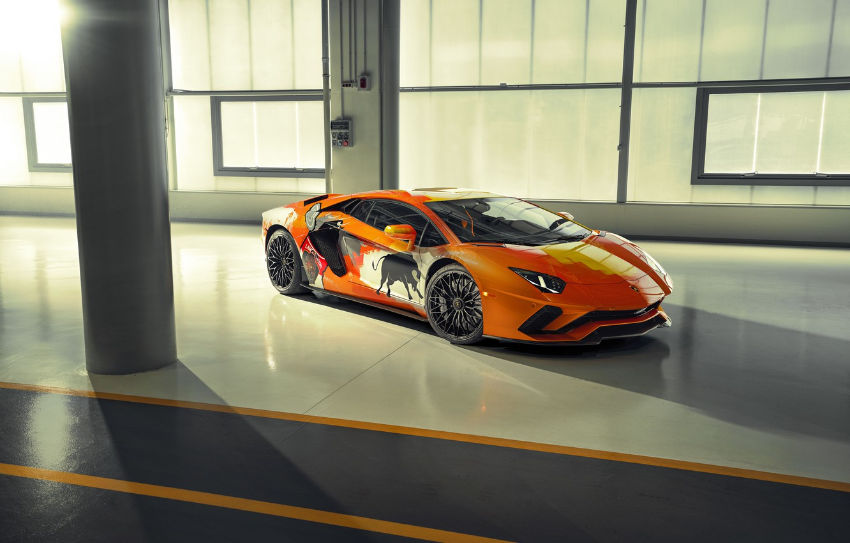 Photo wallpaper Lamborghini, Aventador S, Skyler Grey