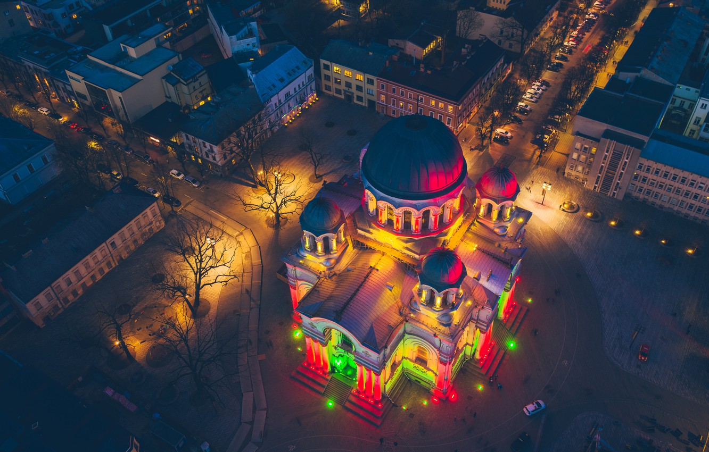 Photo wallpaper Cathedral, Lithuania, Kaunas