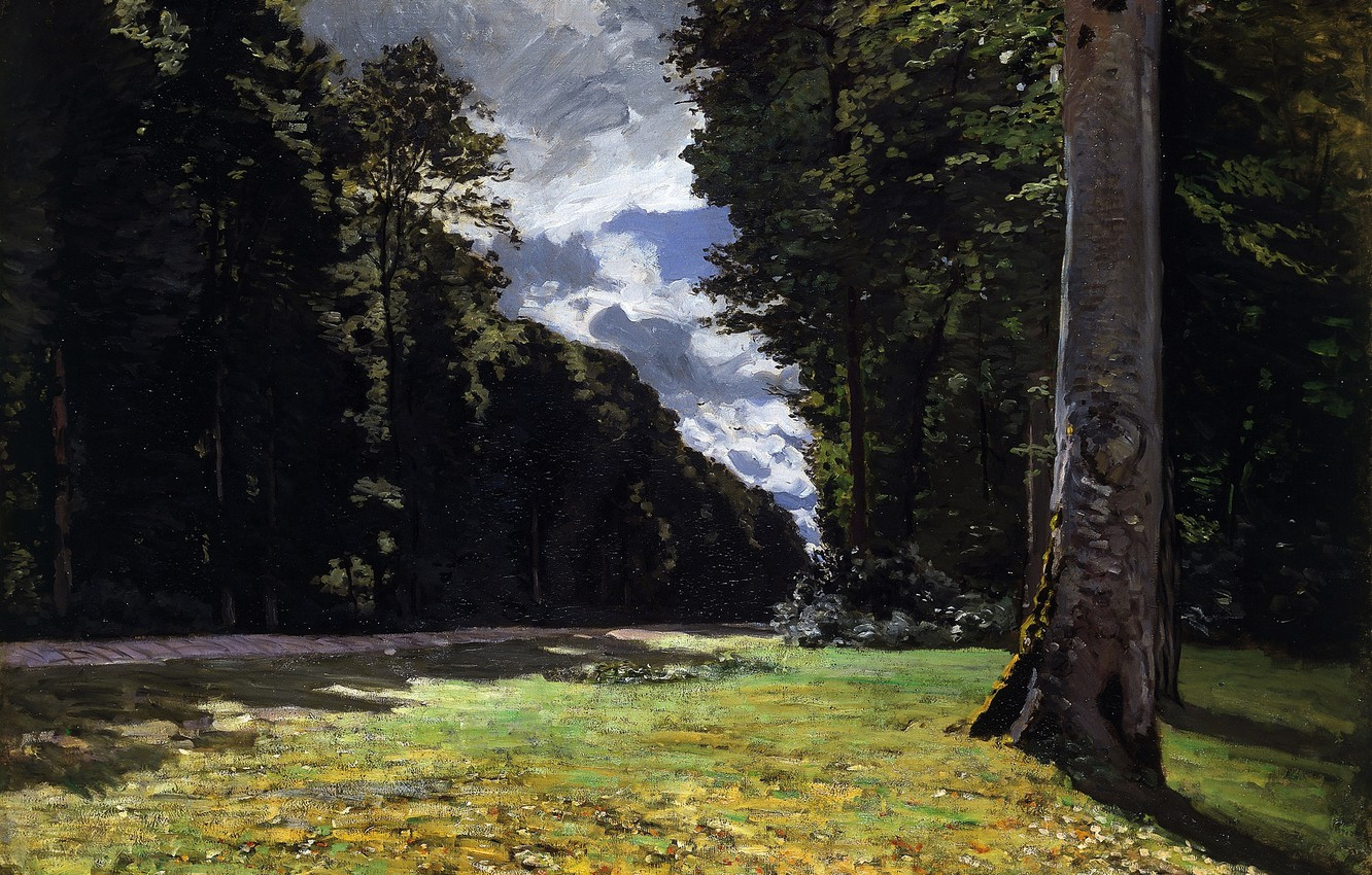 Photo wallpaper Claude Monet, 1865, The Pavé de Chailly, in the Forest of Fontainebleau