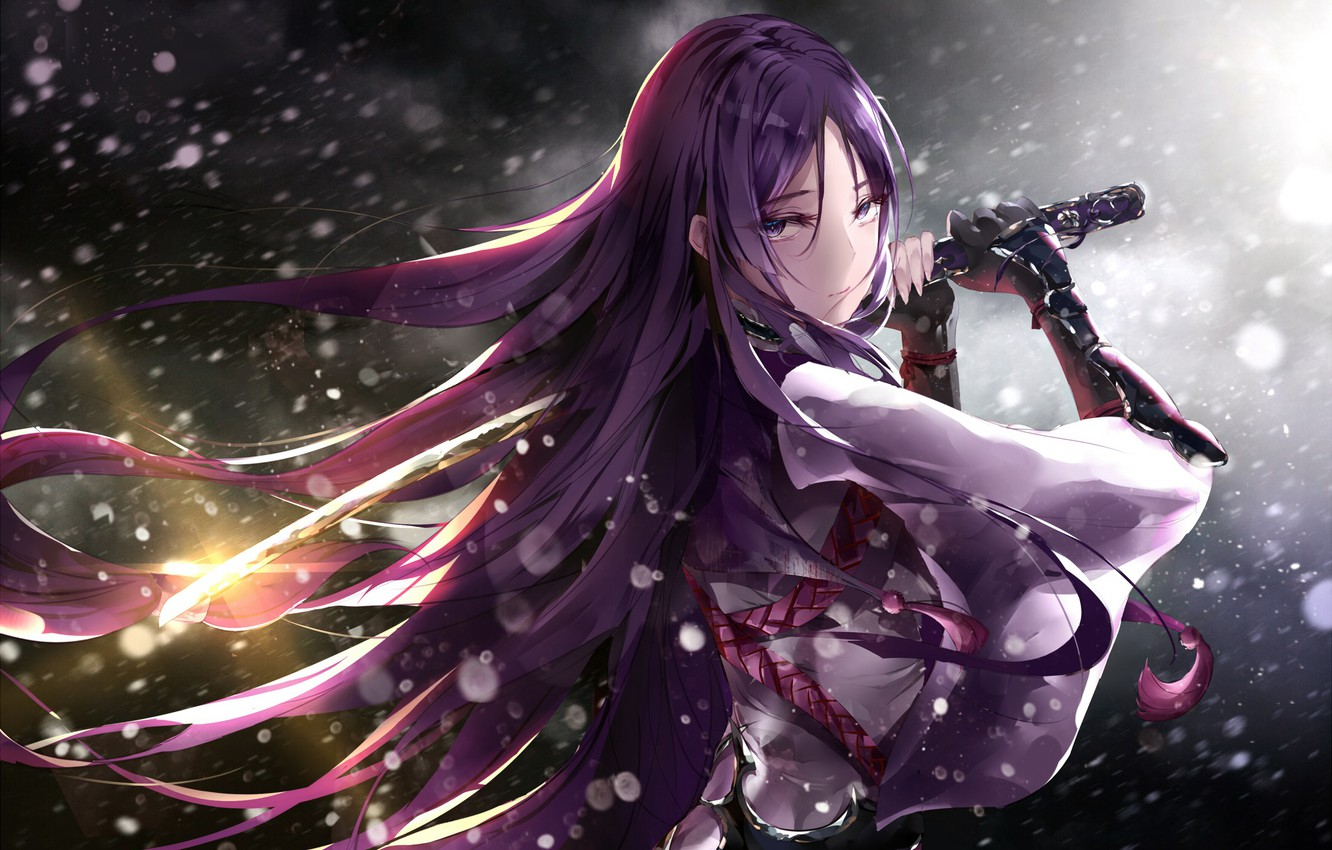 Photo wallpaper girl, microphone, Fate/Grand Order, The destiny of a great campaign