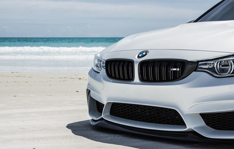 Photo wallpaper BMW, Water, White, Wave, F80, Sight