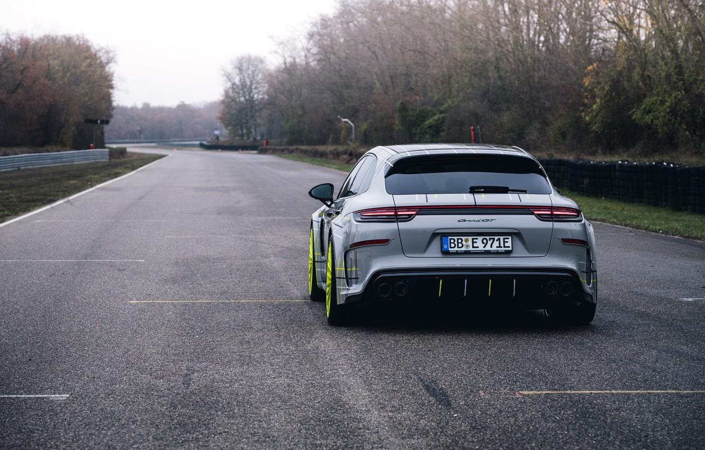 Photo wallpaper Porsche, Panamera, Turbo, 2018, TechArt, Grand GT