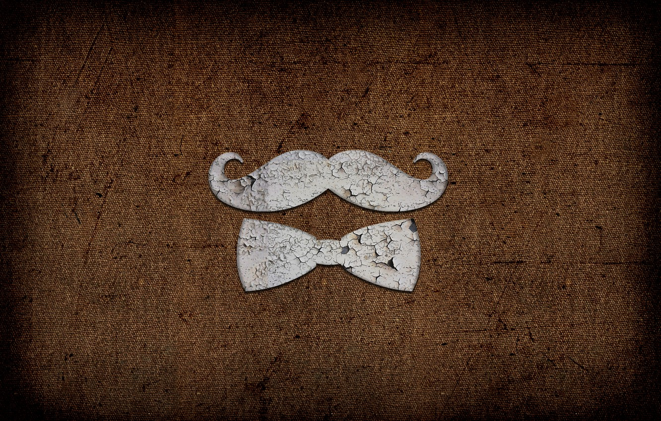 Photo wallpaper Butterfly, Mustache, Metal, Texture, Texture, Rust, Patina, Mustache Gentleman