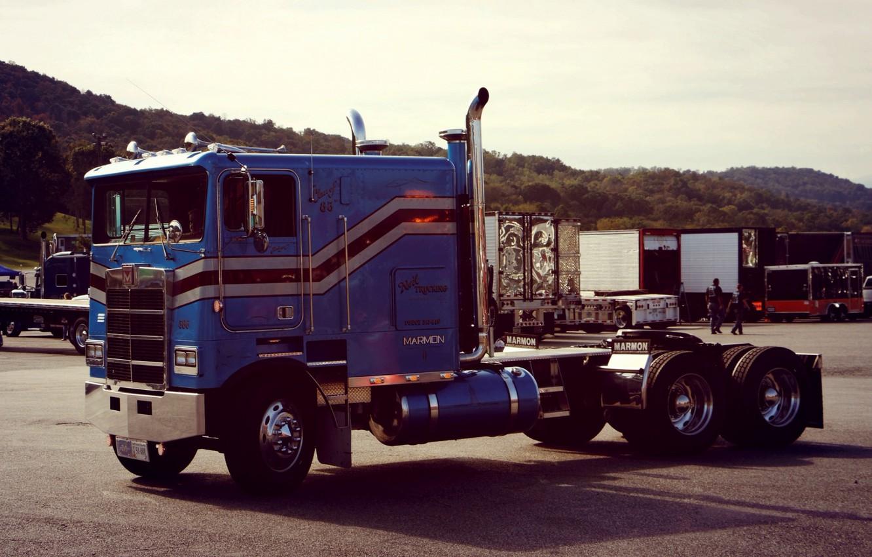 Photo wallpaper Blue, Truck, Marmon