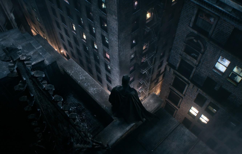 Photo wallpaper Roof, The Dark Knight, Batman, Gotham, Gotham