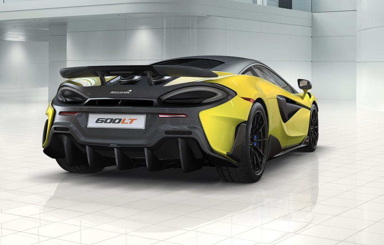 Photo wallpaper rendering, McLaren, supercar, rear view, 2018, 600LT