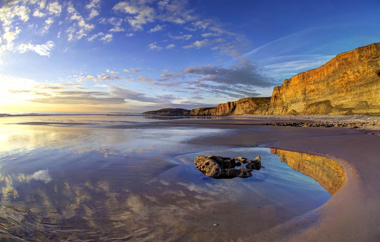 Photo wallpaper coast, Wales, Wales