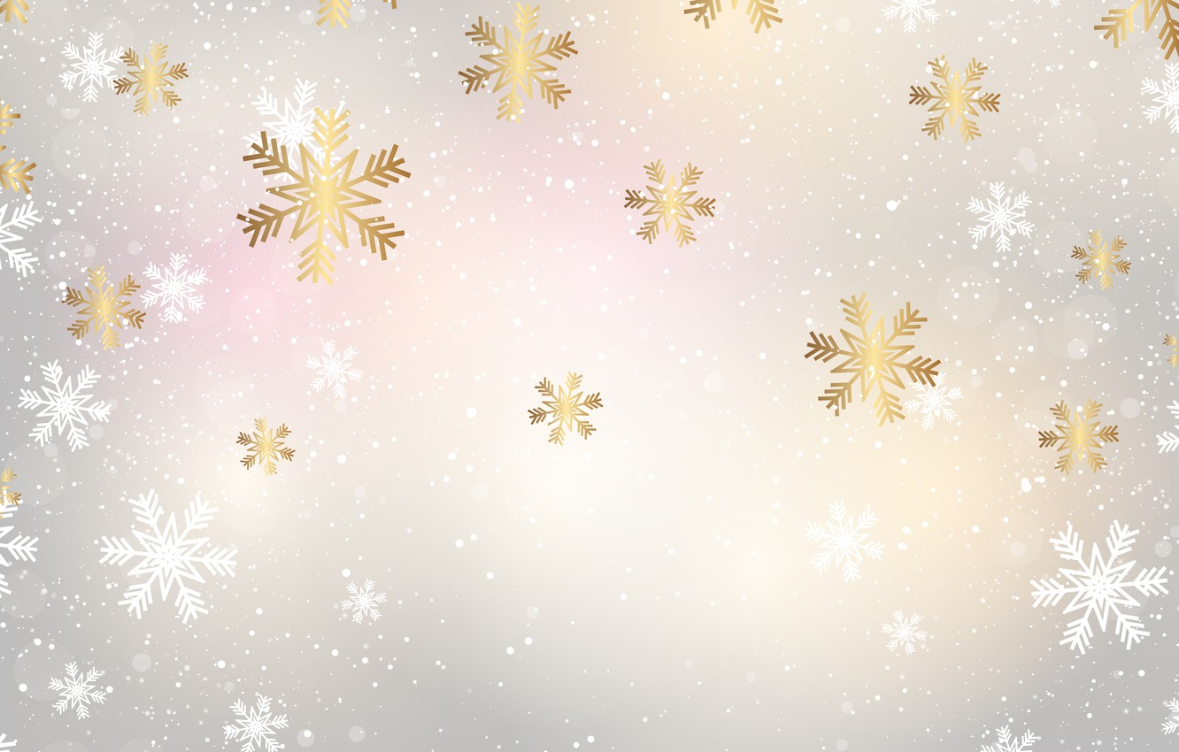 Photo wallpaper winter, snow, snowflakes, background, Christmas, winter, background, snow, snowflakes
