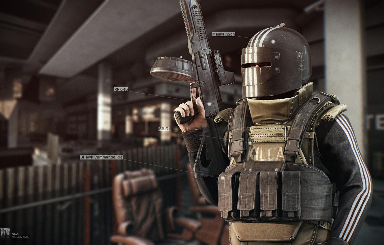 Wallpaper Boss, Machine gun, R 2028, Russia 2028, Wild, RPK