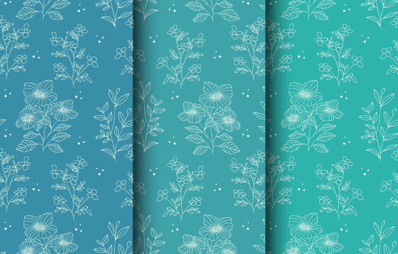 Wallpaper Flowers Background Blue Pattern Background Images For Desktop Section Tekstury Download