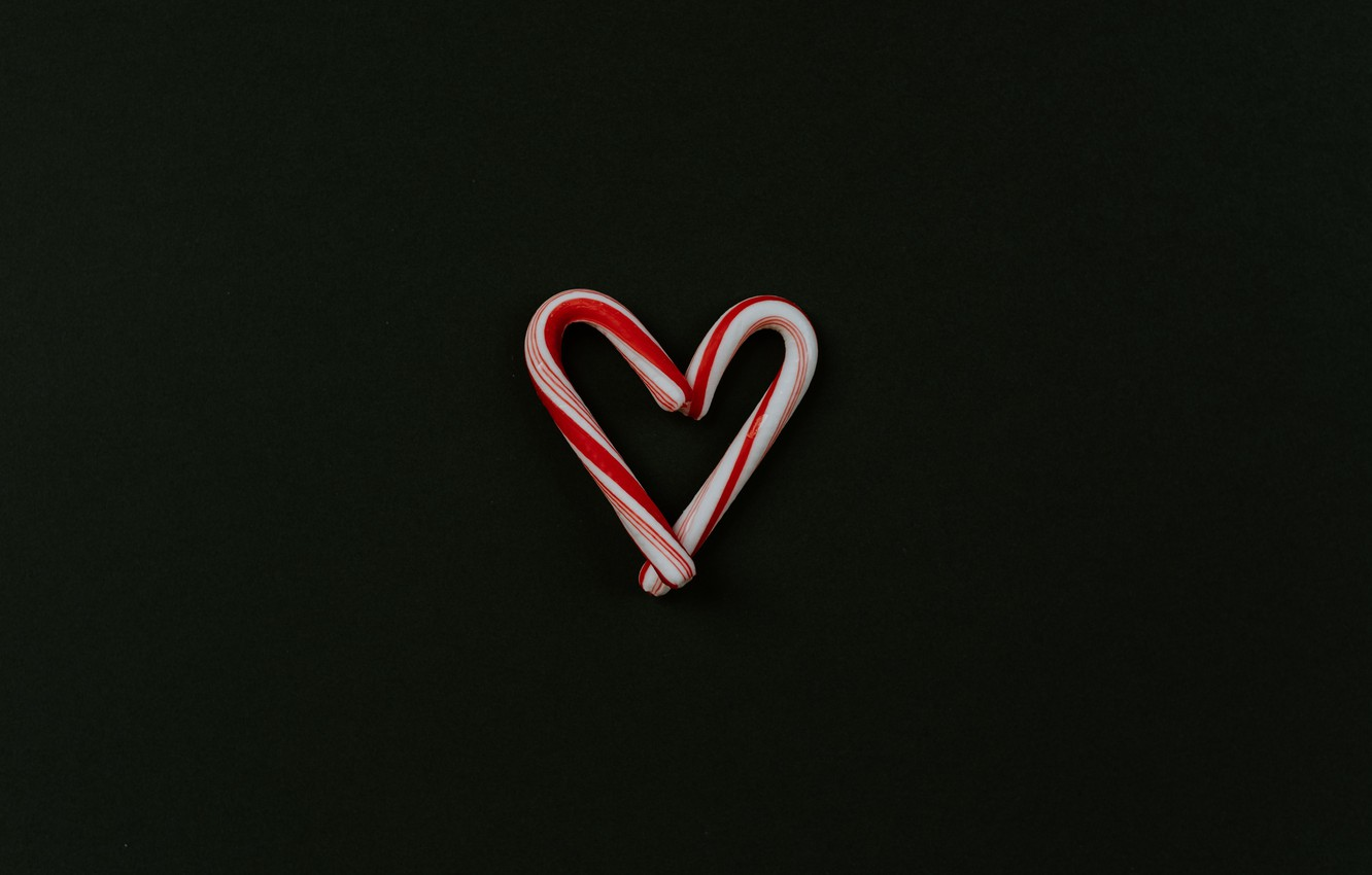 Photo wallpaper love, background, heart, minimalism, lollipops