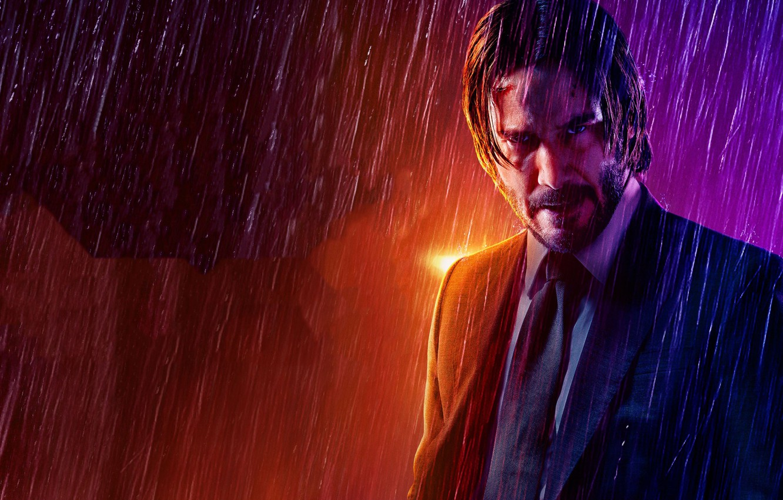 Wallpaper rain, Keanu Reeves, Keanu Reeves, Parabellum, John Wick, Chapter  3, Dean PEC images for desktop, section фильмы - download