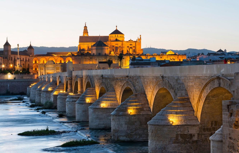 Photo wallpaper bridge, river, Spain, Cordoba