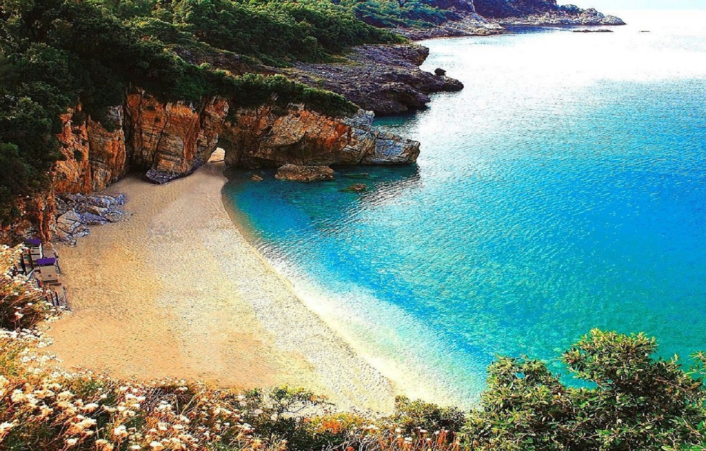 Photo wallpaper Beach, Sea, Location