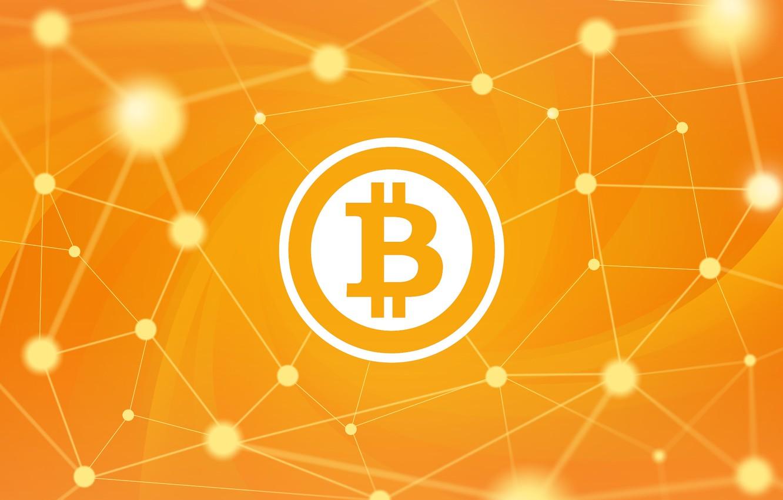 Photo wallpaper background, orange, fon, bitcoin, bitcoin, btc
