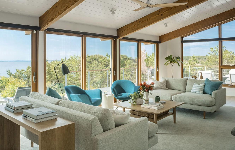 Wallpaper Room Interior Living Room Beach House Mid Century Modern Images For Desktop Section Interer Download