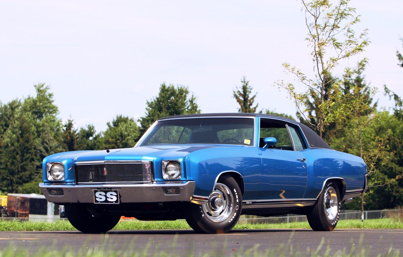 Photo wallpaper Chevrolet, Blue, Coupe, Hardtop, Monte Carlo, Vehicle, Chevrolet Monte Carlo