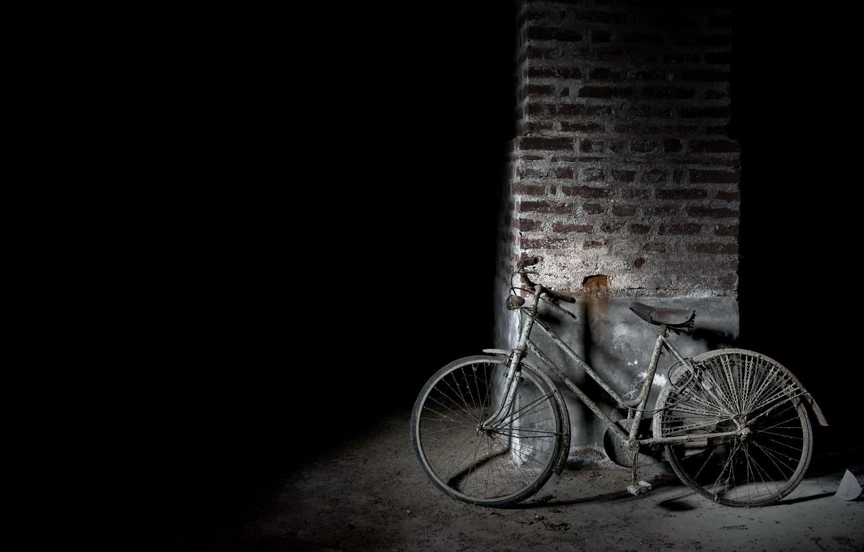 Photo wallpaper bike, scrap, naturalism